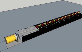 Automatic Tyre Killer is driven by an electric motor installed in front of the main gate.