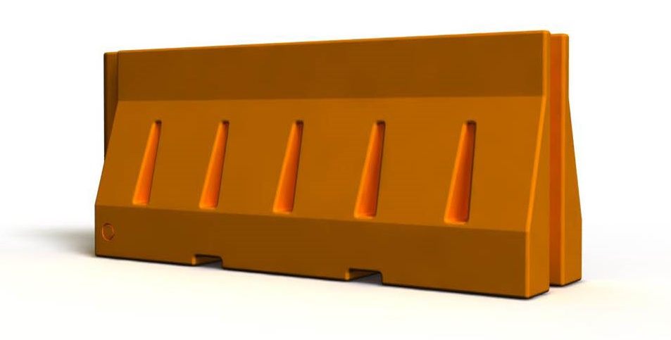 Jersey plastic barrier is a prefabricated plastic barrier employed to separate lanes of traffic.